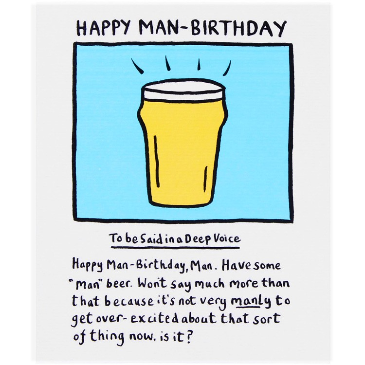 Edward Monkton - Happy Man Birthday