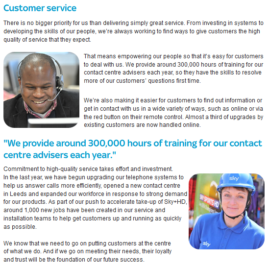 Sky Customer Service