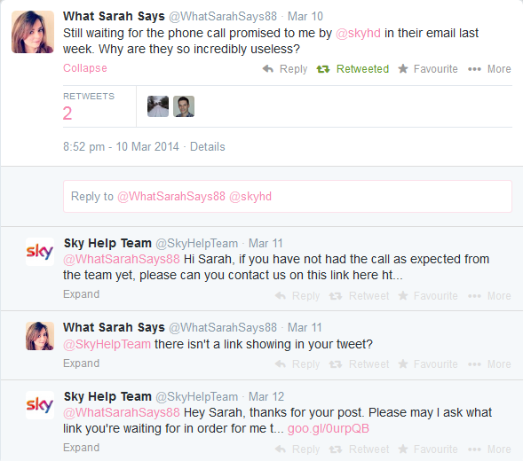 Sky Twitter Support