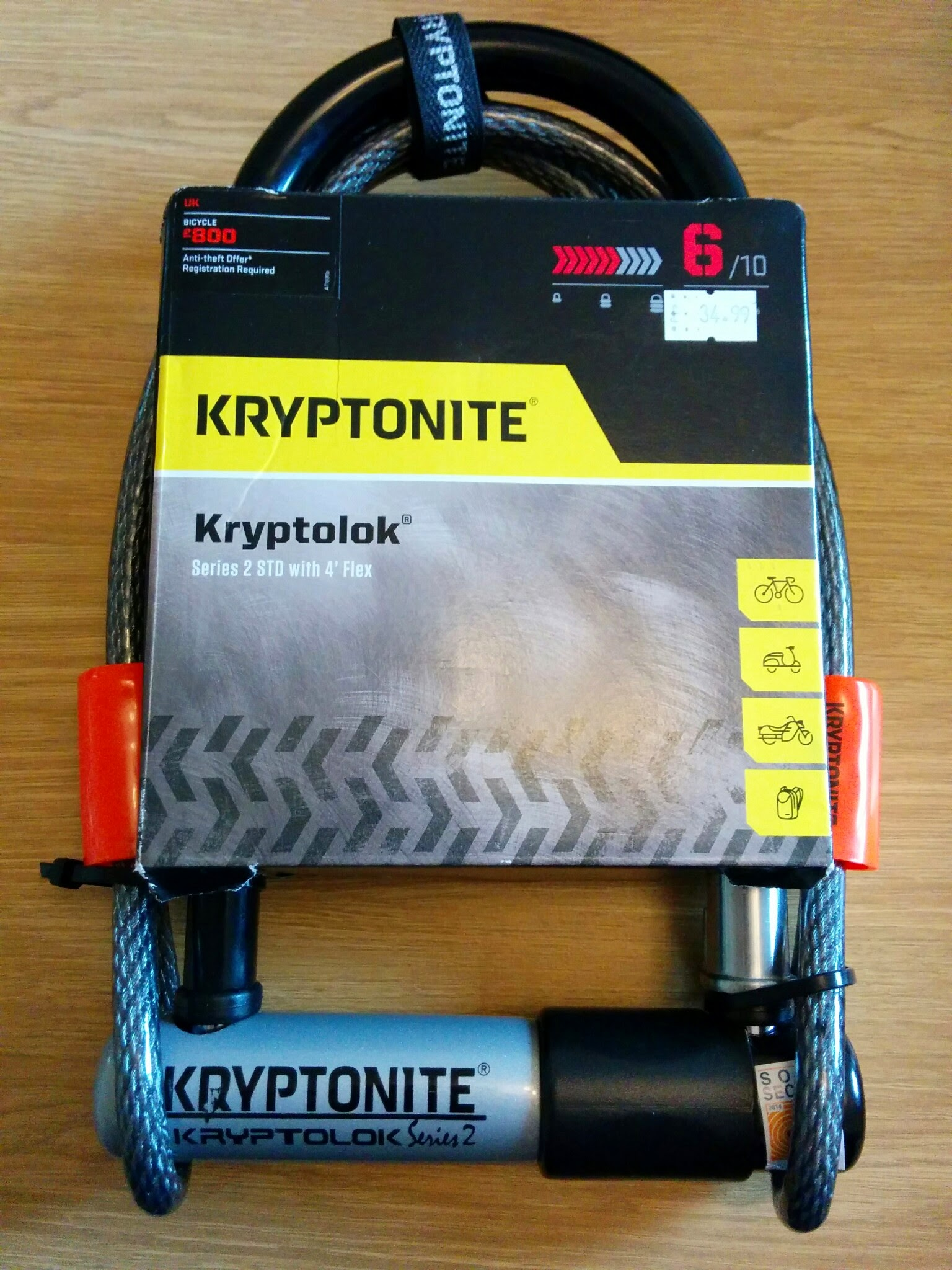 Kryptonite Kryptolok Bicycle Lock
