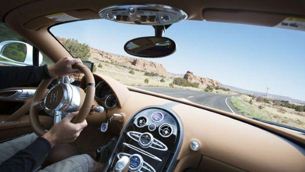 Bugatti Veyron Grand Sport Vitesse driving Route 66