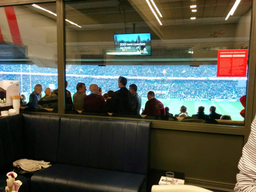 Twickenham corporate box