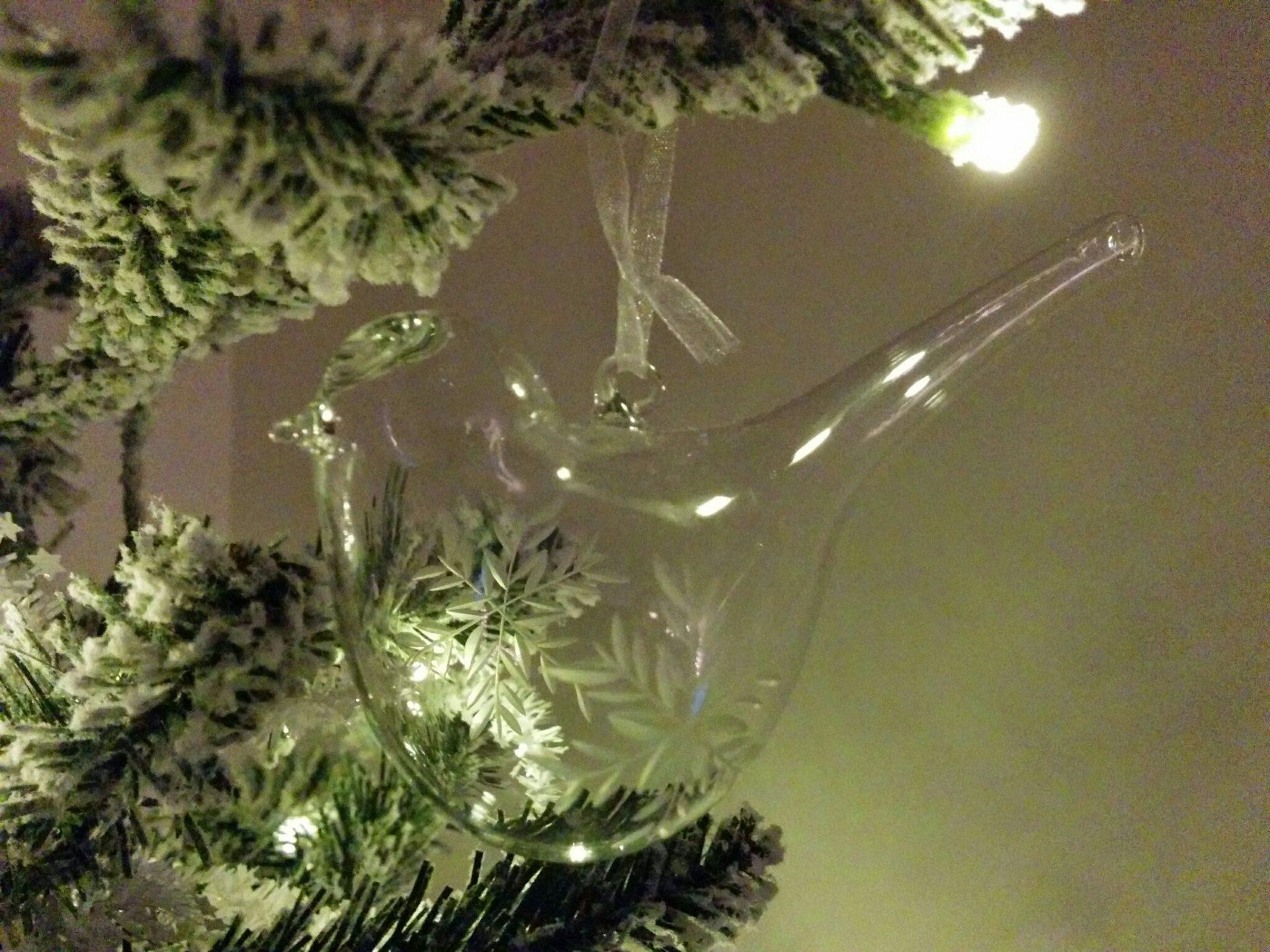John Lewis glass Christmas dove