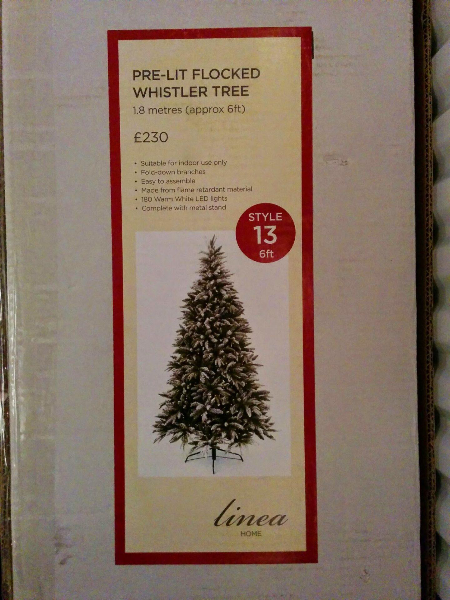 Linea 6ft pre-lit Christmas tree box