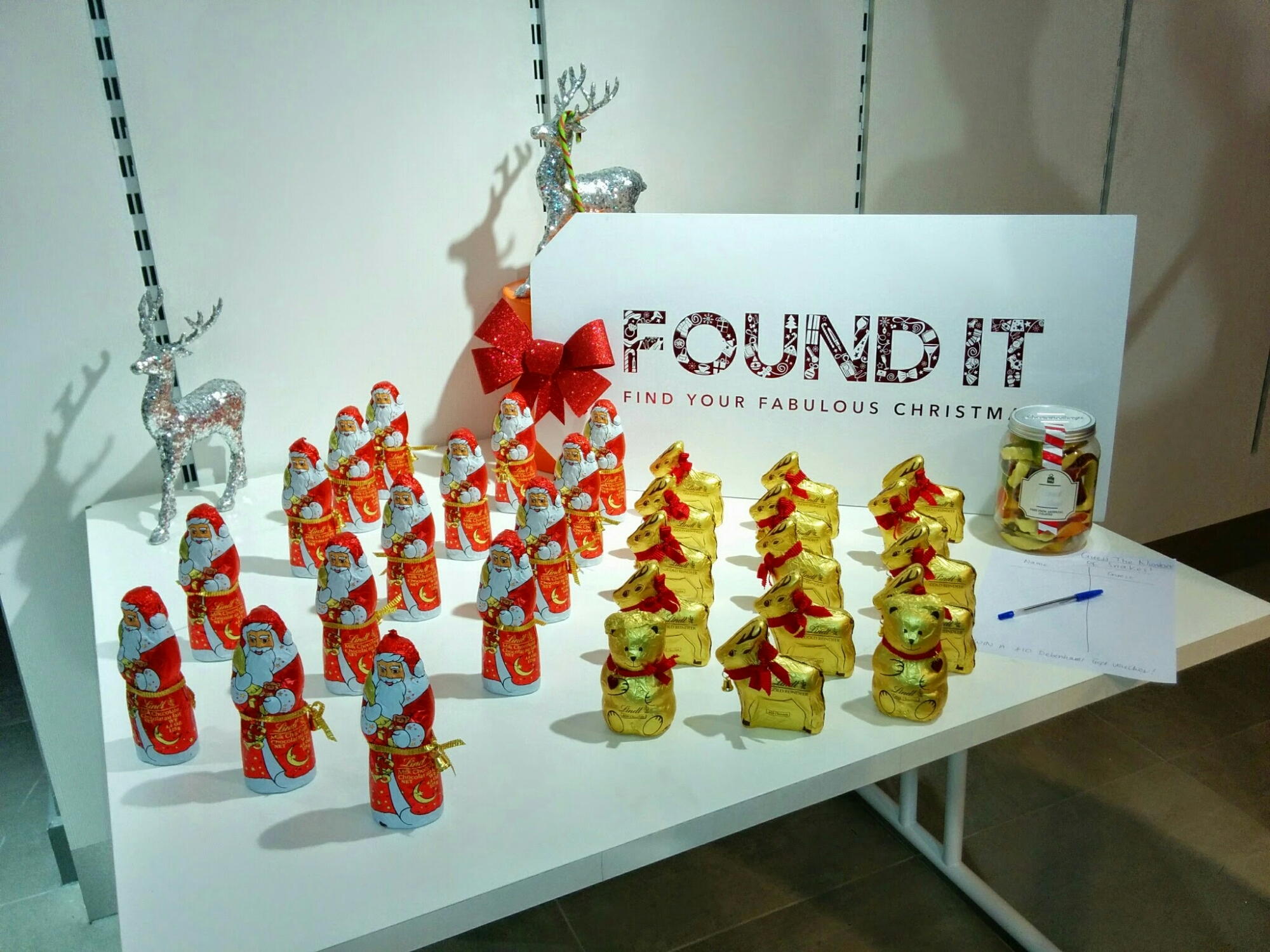Lindt reindeer and father Christmas