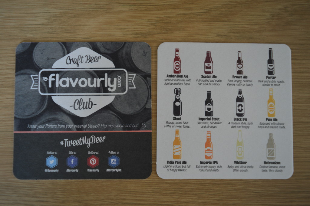 Flavourly.com beer mats