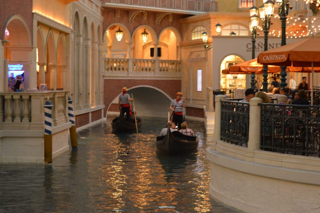 Gondolas in Little Venice Las Vegas