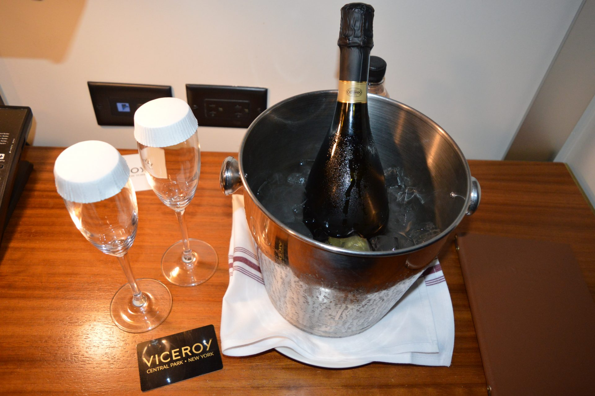 Champagne courtesy of the Viceroy