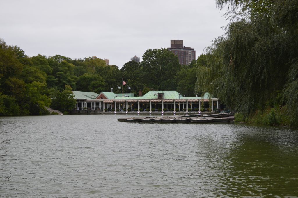 The Boathouse and lake Central Park