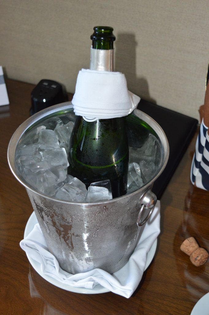 Champagne at Fairmont Miramar Hotel and Bungalows