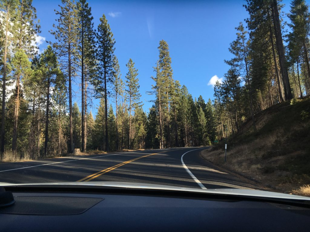 Driving to Yosemite