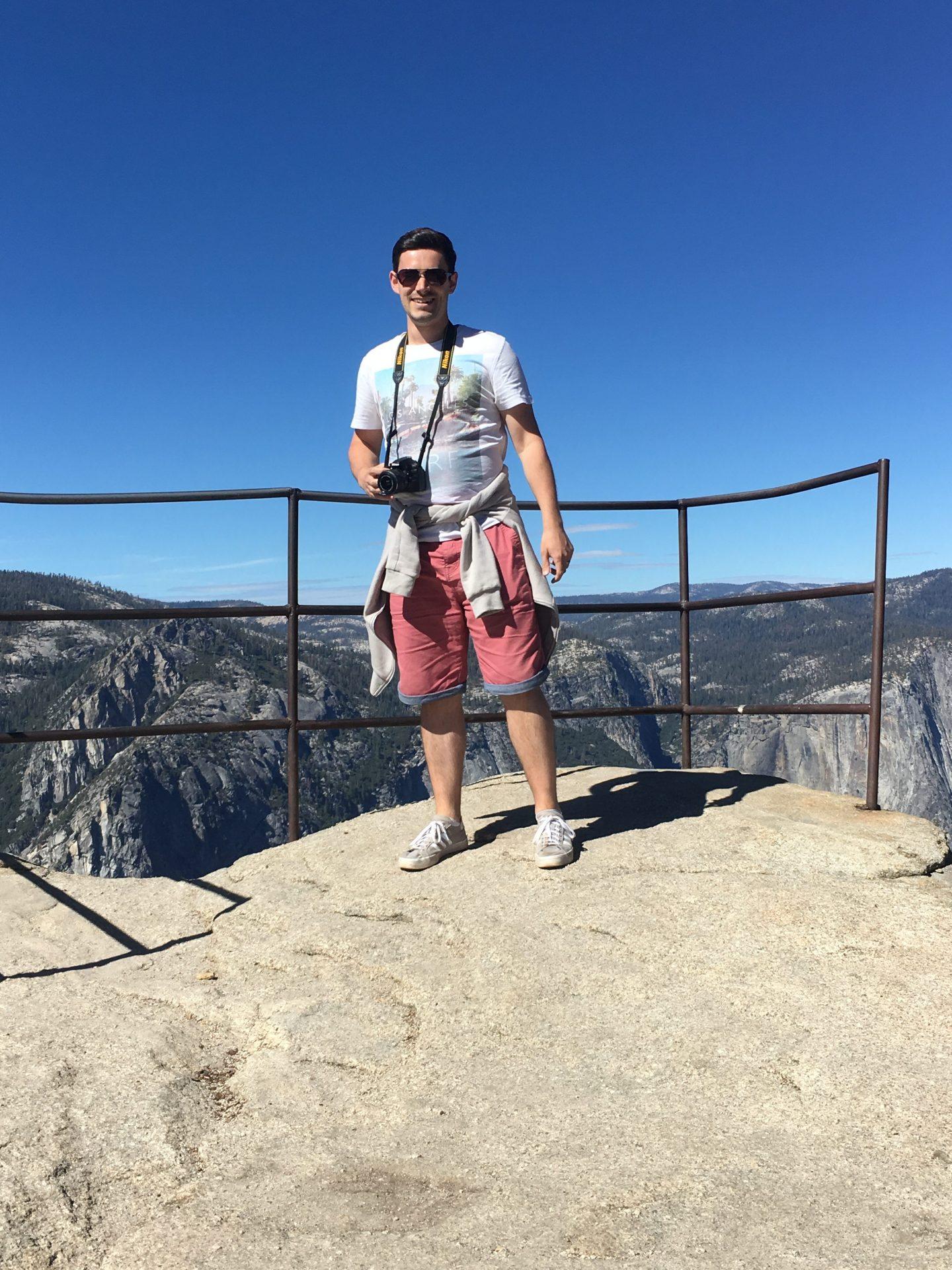 Standing at Taft Point Yosemite