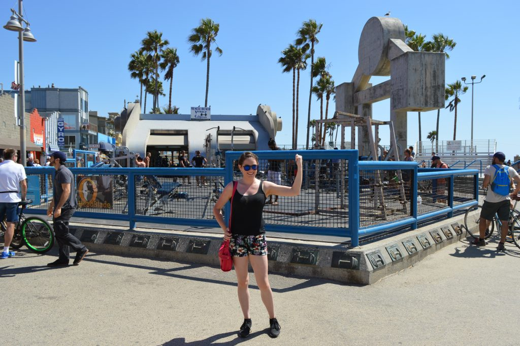 Muscle beach California