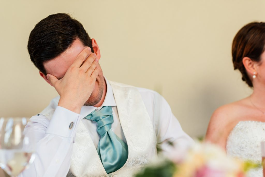 Worrying about the groom's speech