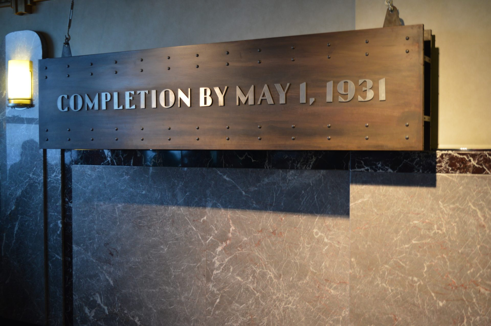 Completion by May 1, 1931