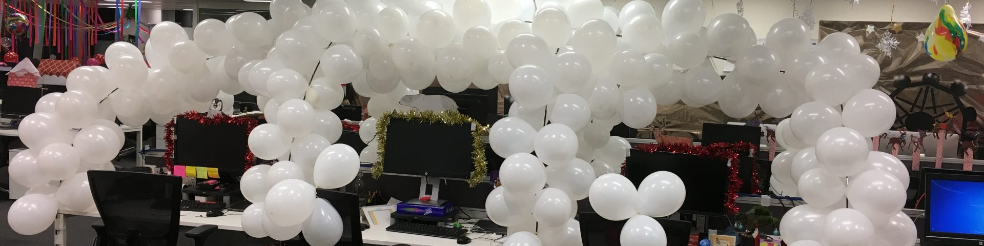 Christmas Office Desk Igloo