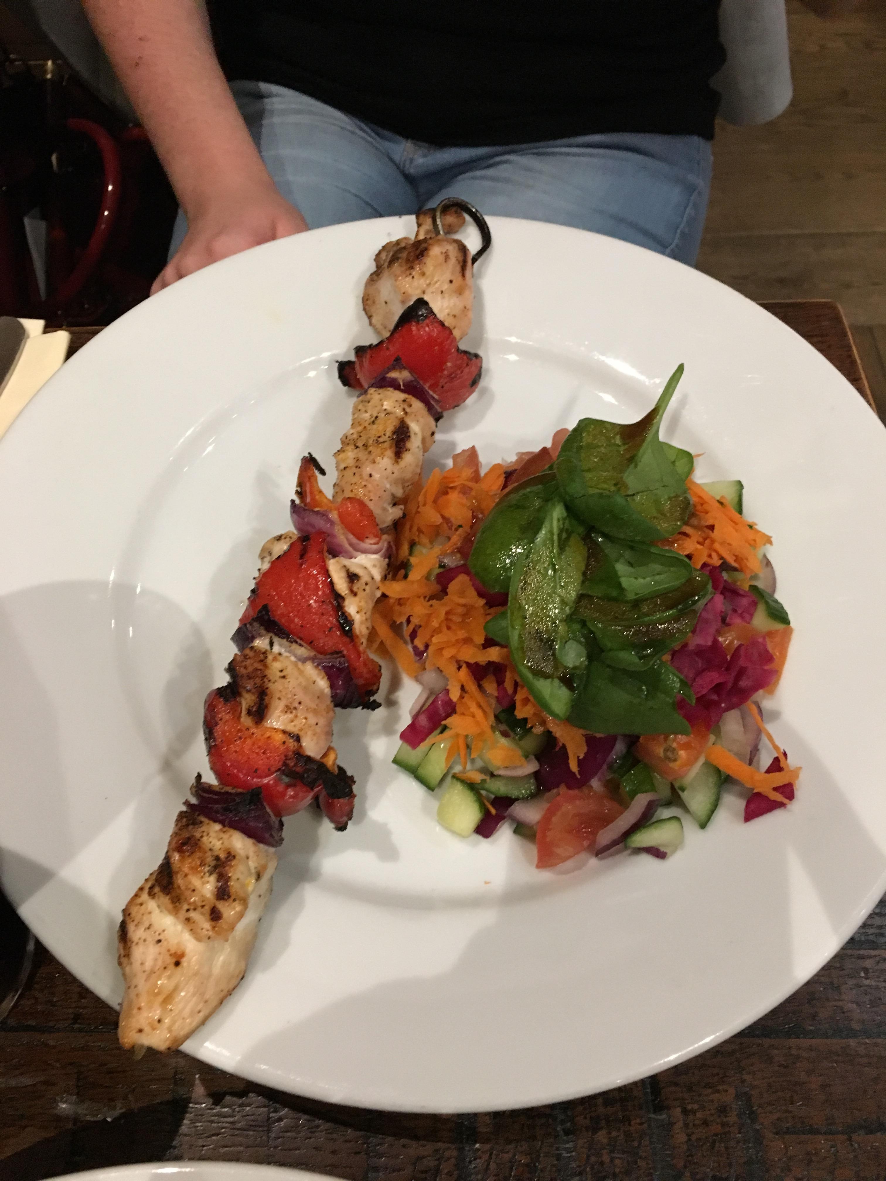 Simply Grilled Chicken Skewer