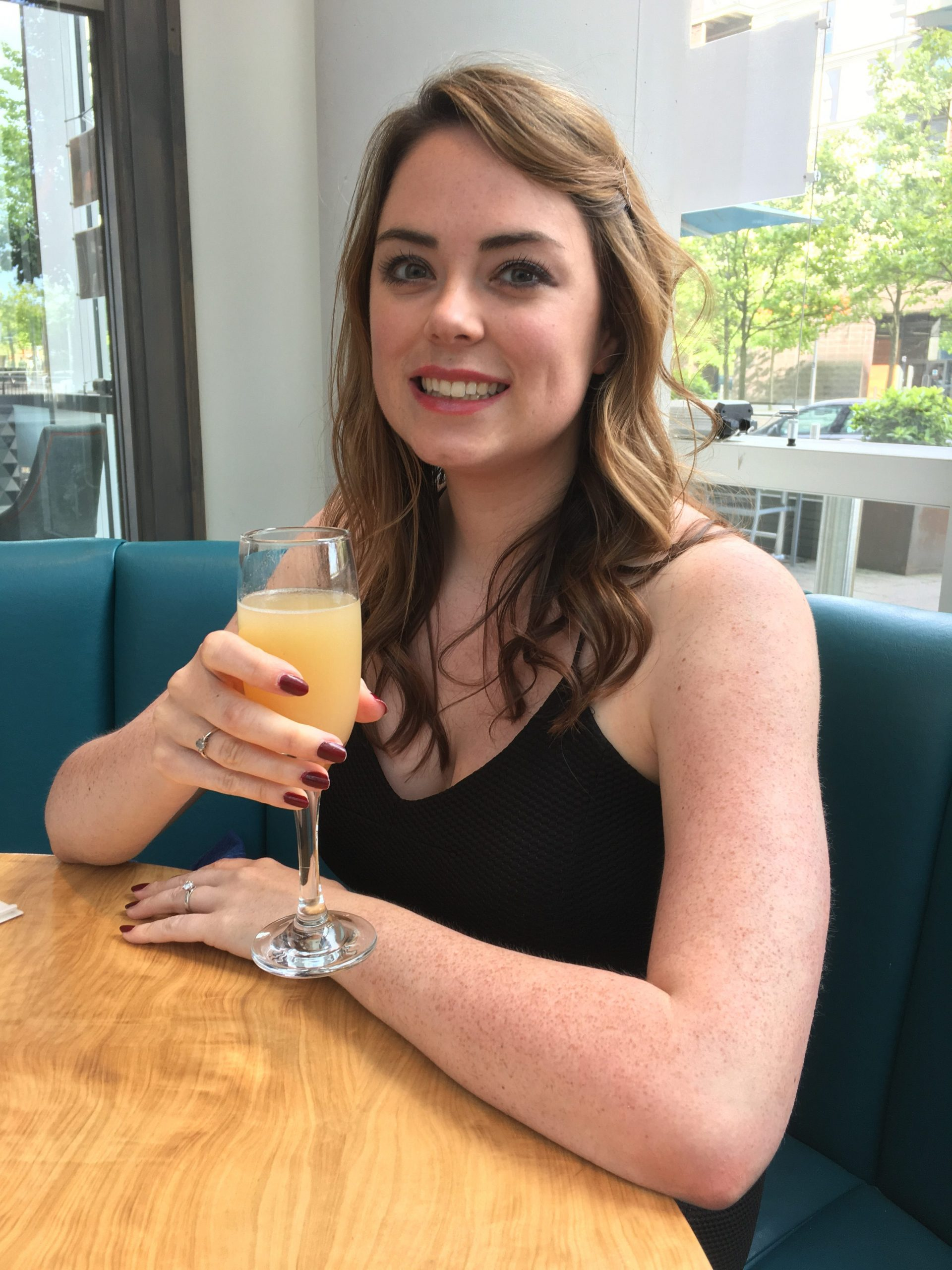 Sparkling Bellini at The Hub Italian Restaurant Milton Keynes