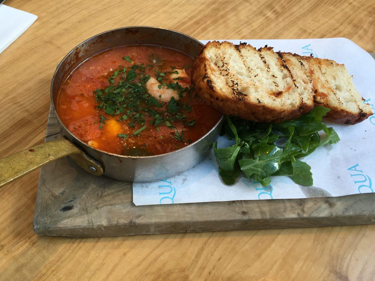 prawns in a tomato and garlic sauce
