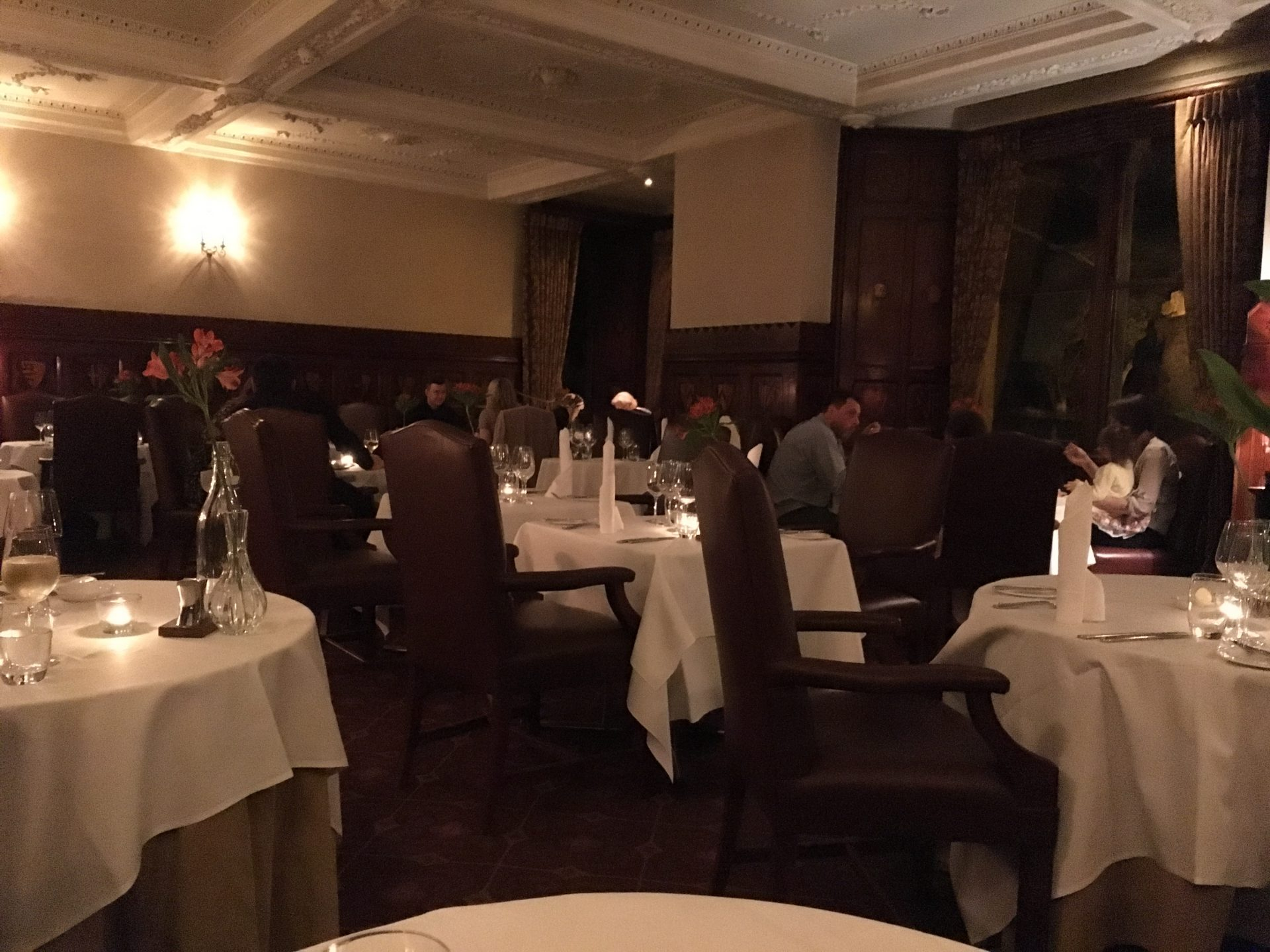 Ettington Park hotel dining room