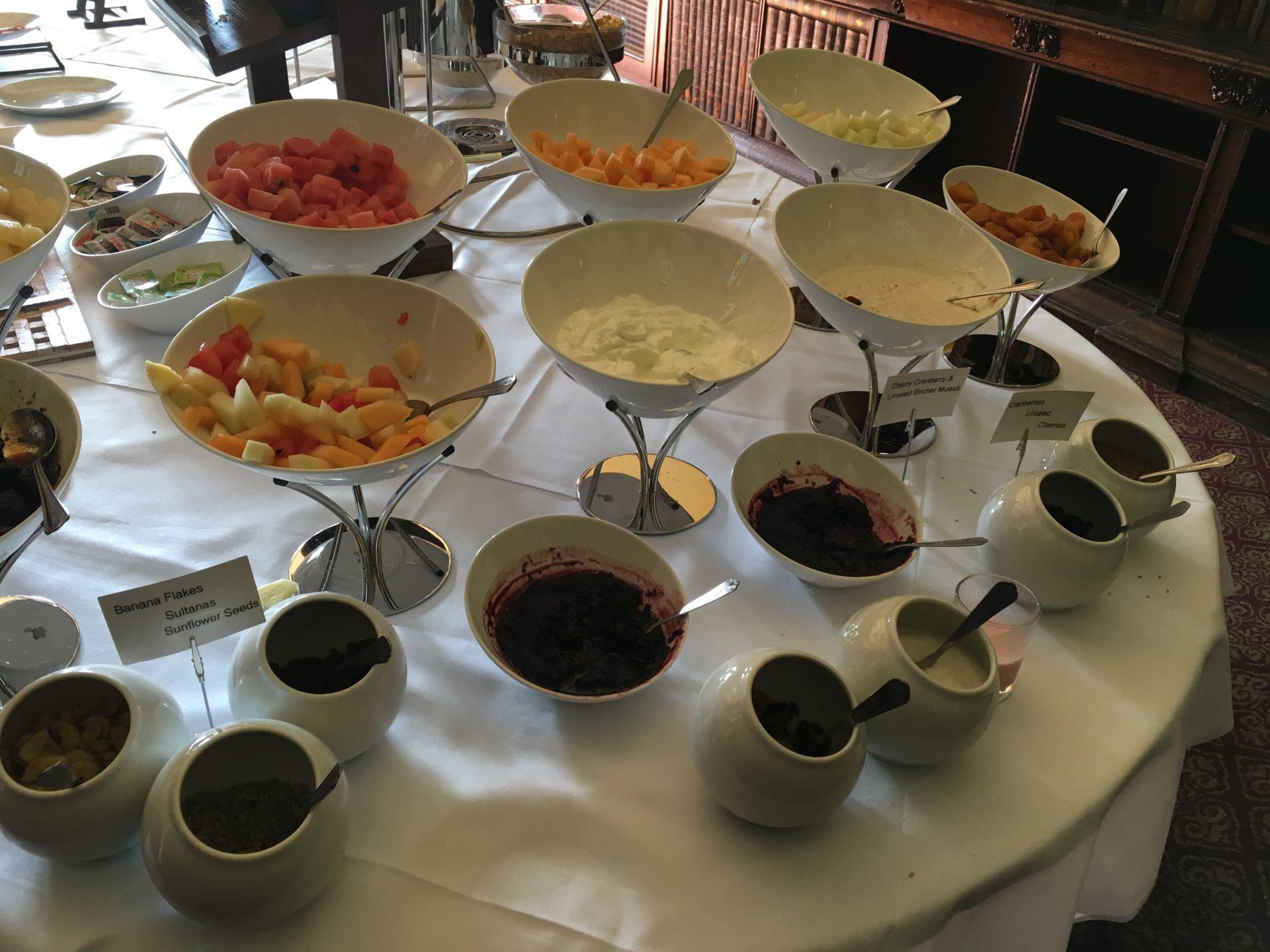 Ettington Park hotel breakfast in the library