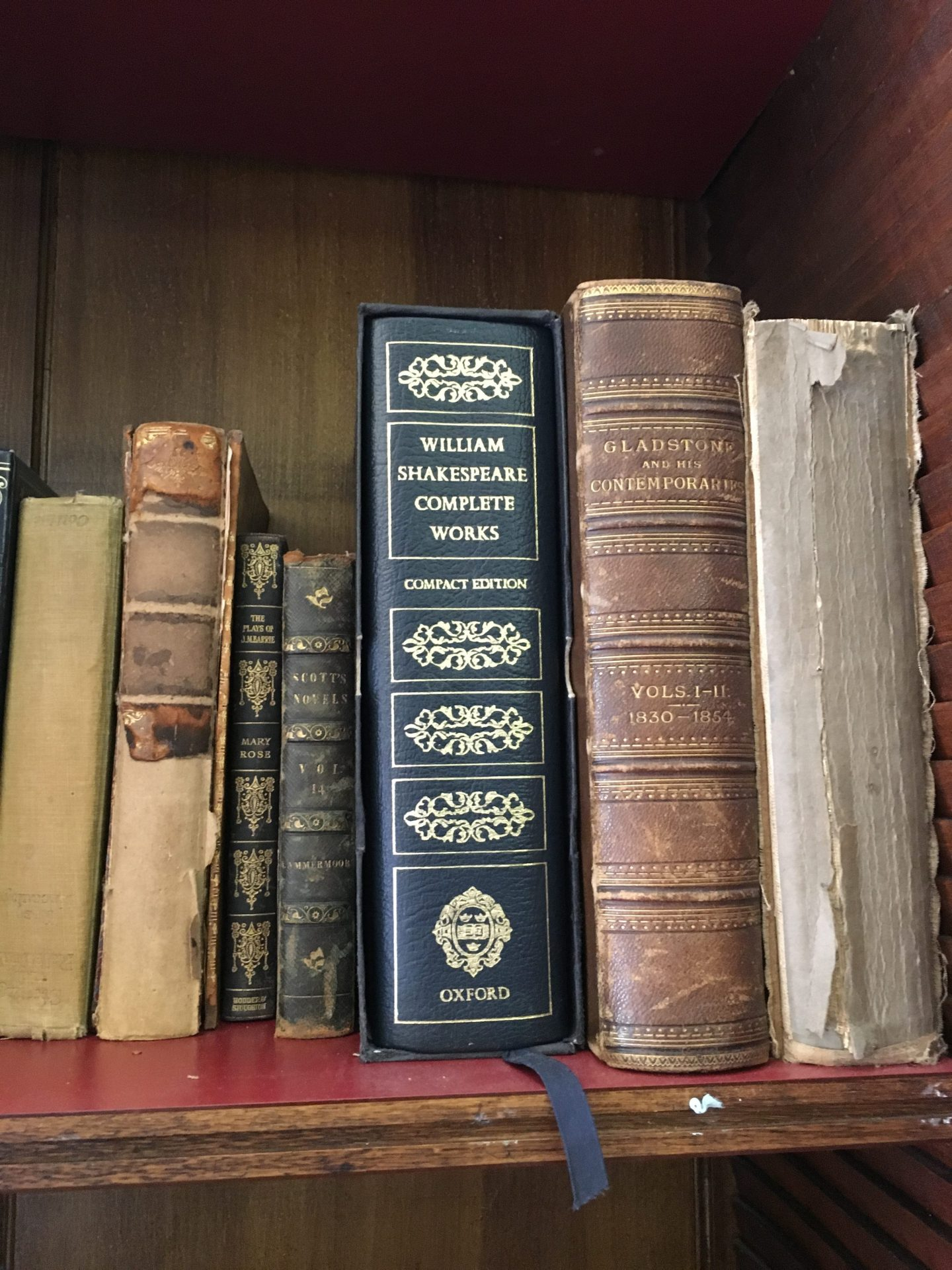 Ettington Park hotel library complete works of Shakespeare