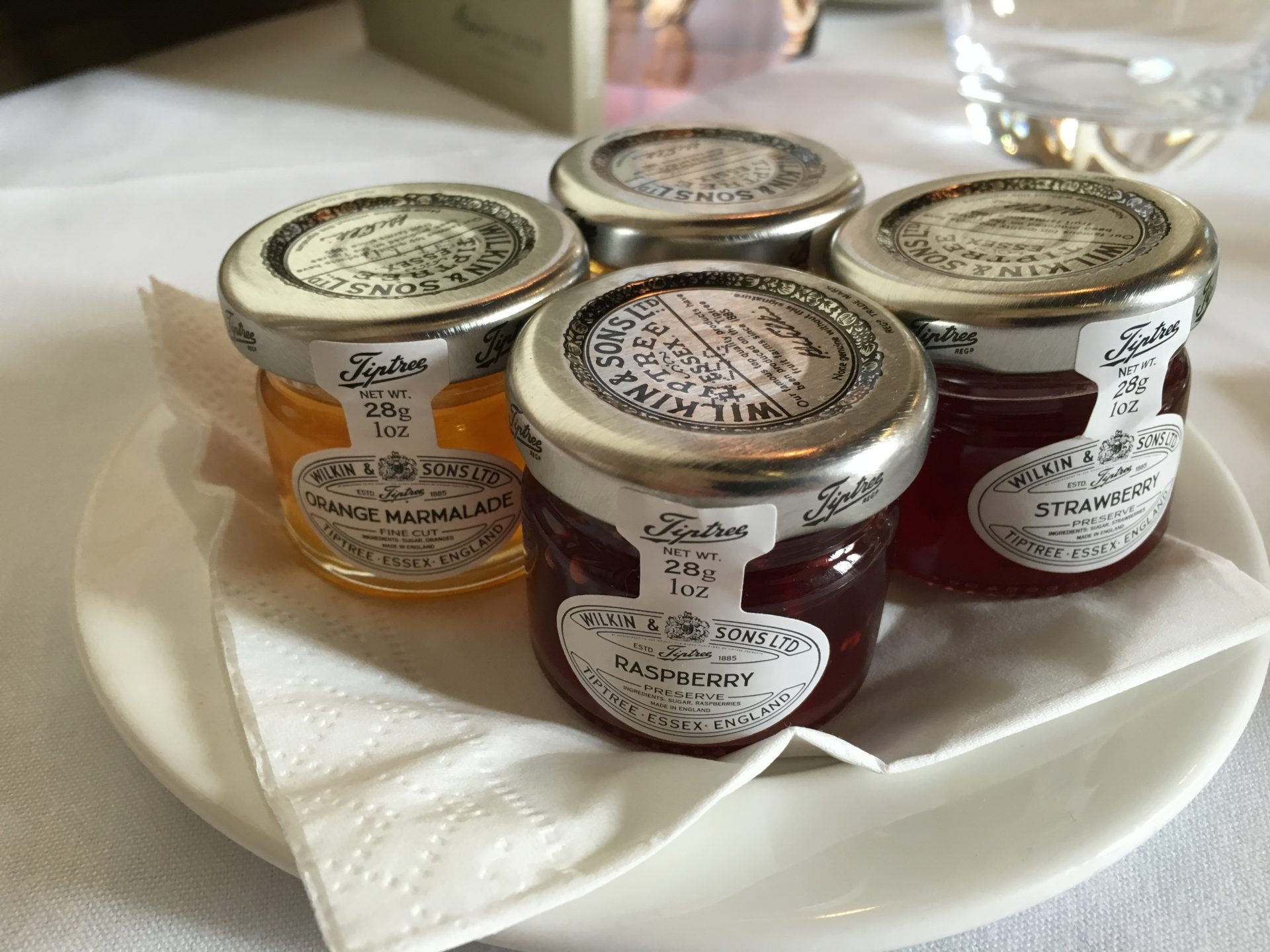 Ettington Park hotel breakfast - jams