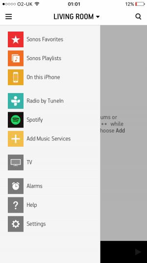 Sonos iOS app