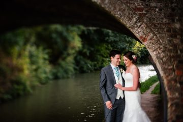 Wedding shot by the canal