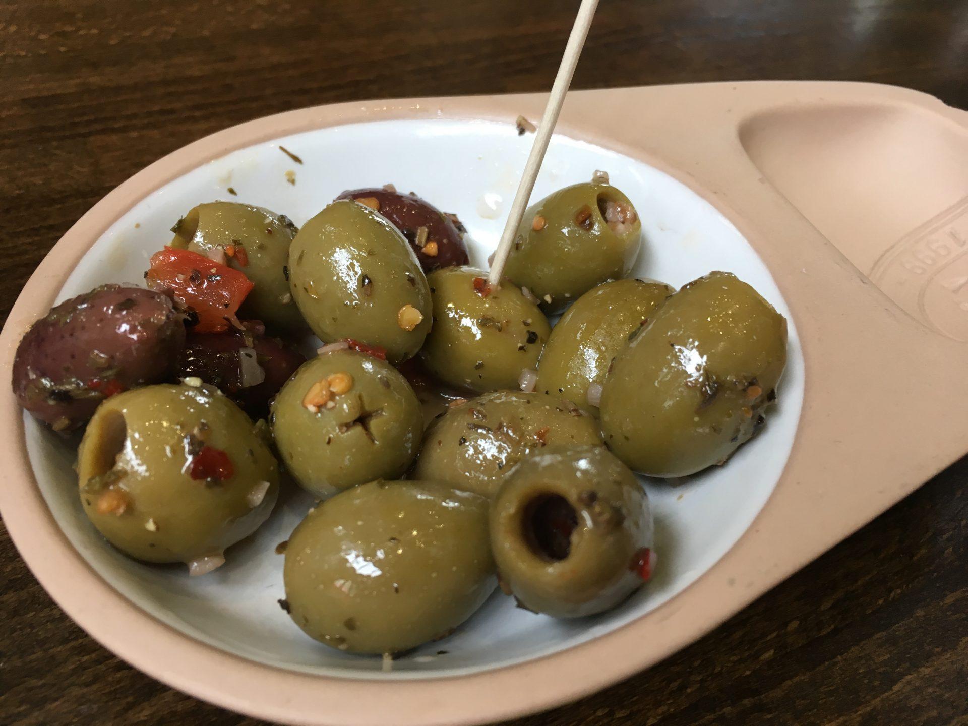Zizzi's olives