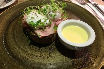 Eggs Benedict with Ham at Mannion & Co. Cafe, York