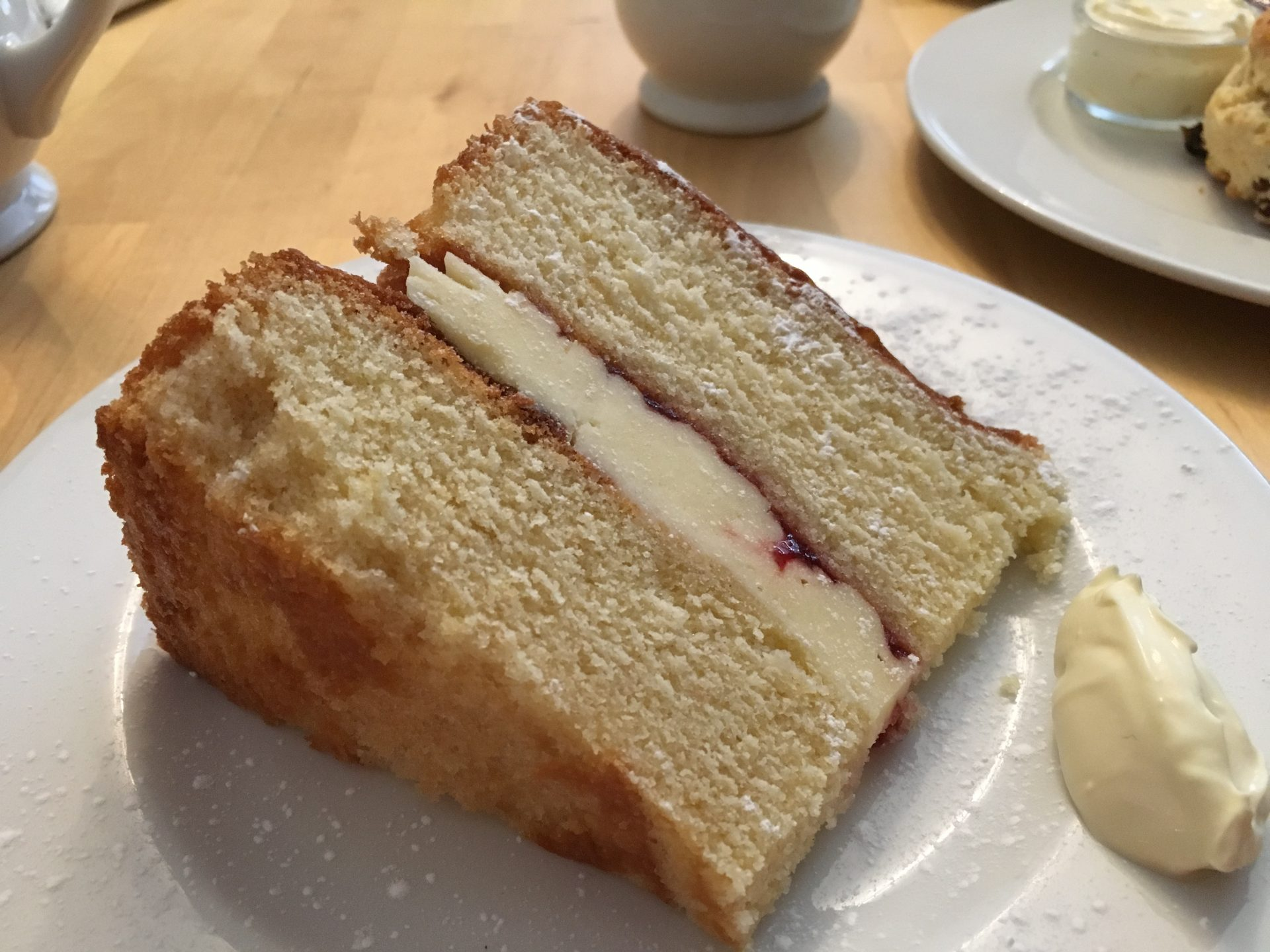 Victoria sponge at The Flax & Twine, York