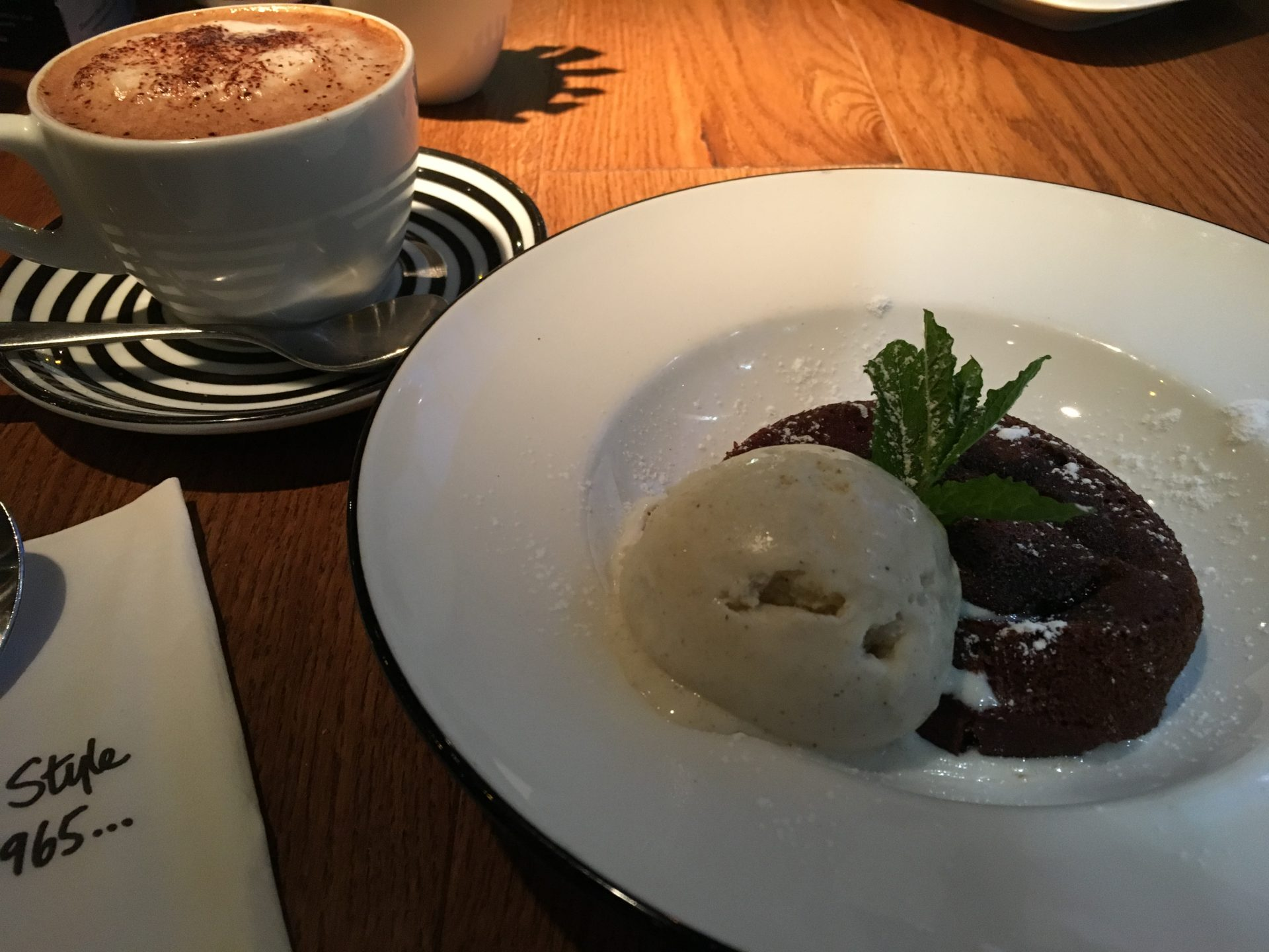 Chocolate Fondant 'Pizza Express'