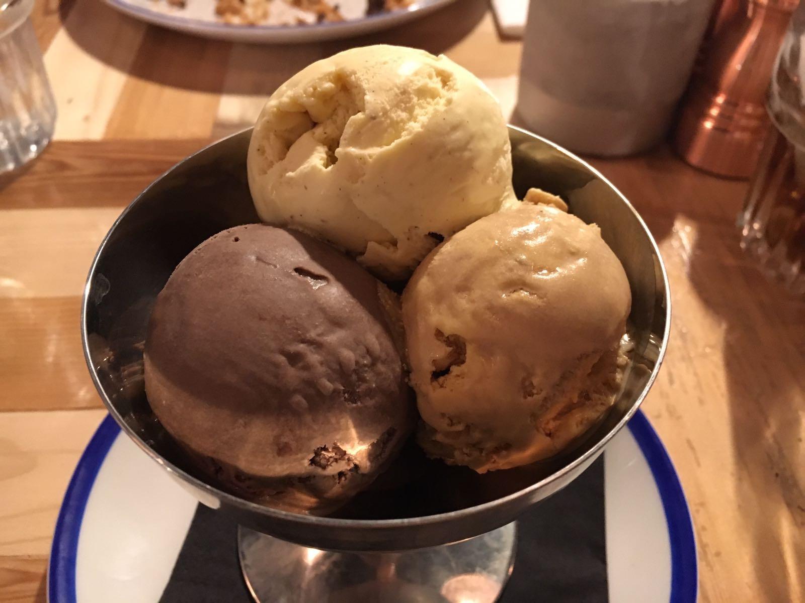 The Wheatsheaf 3 Scoop Ice Cream Coupe