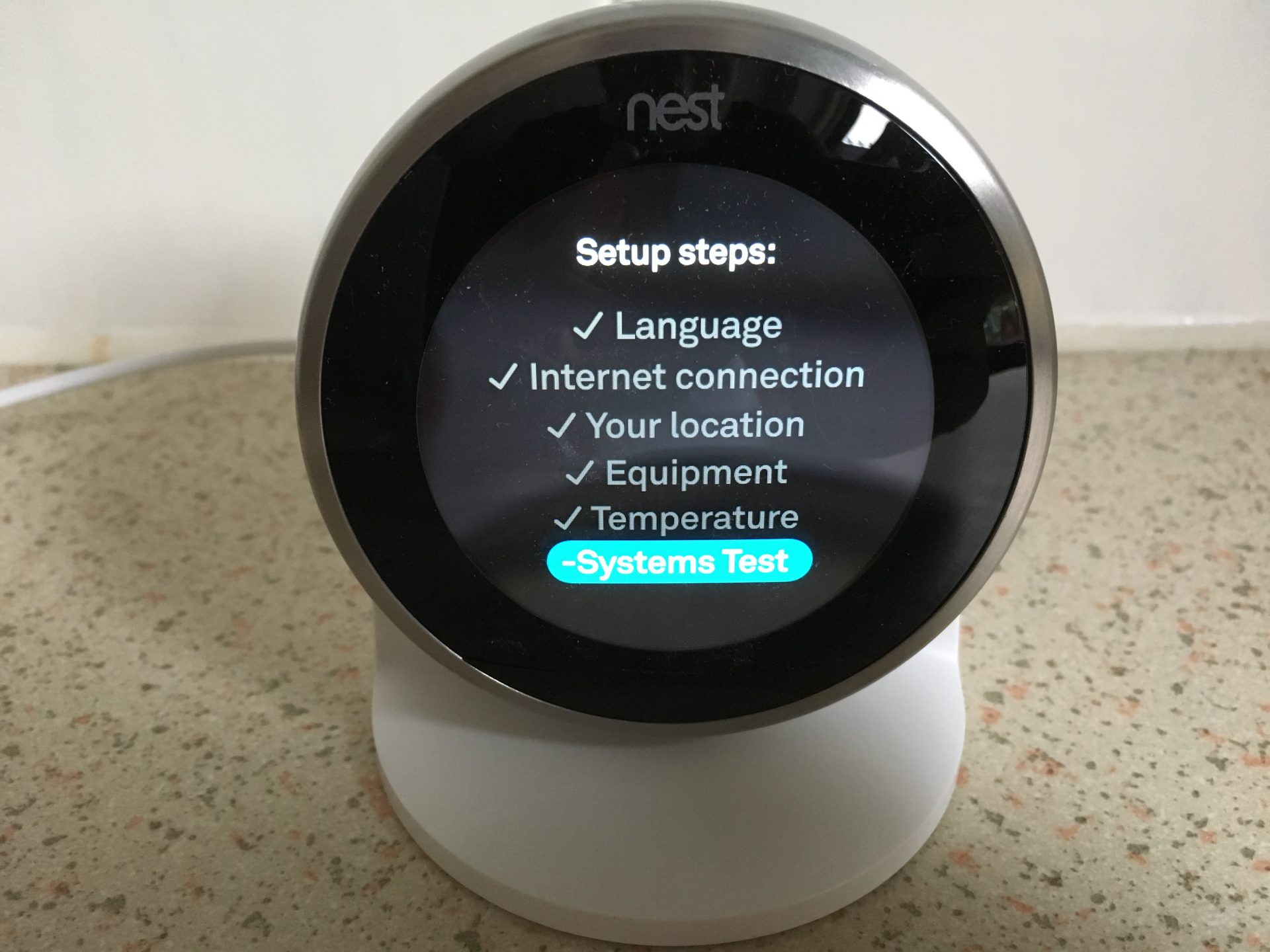 Nest thermostat setup