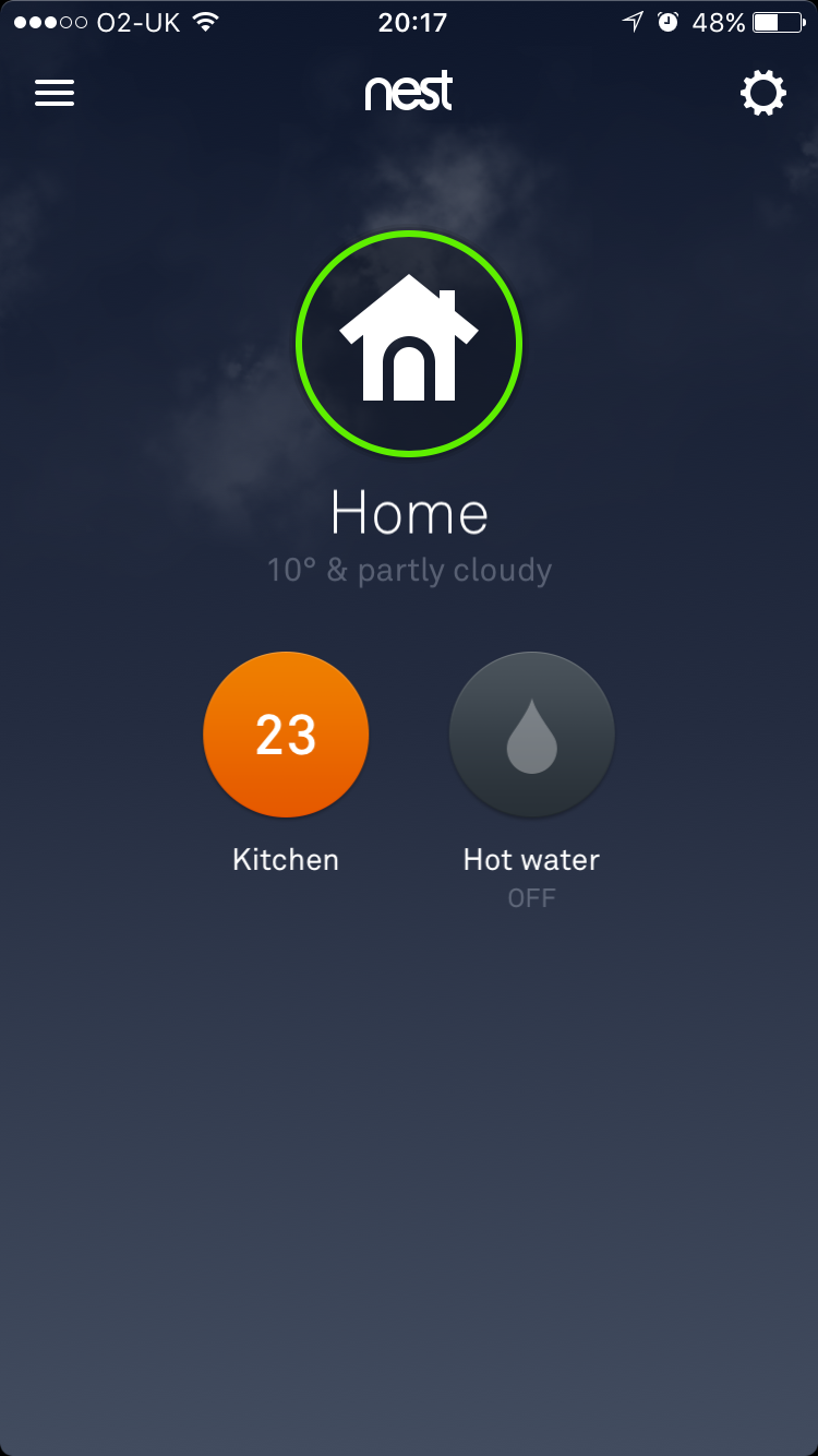 Nest thermostat central heating test