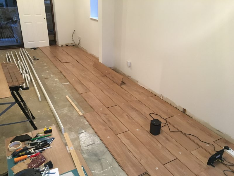 Laying Venezia Oak Laminate Flooring From Wickes Life Of Man