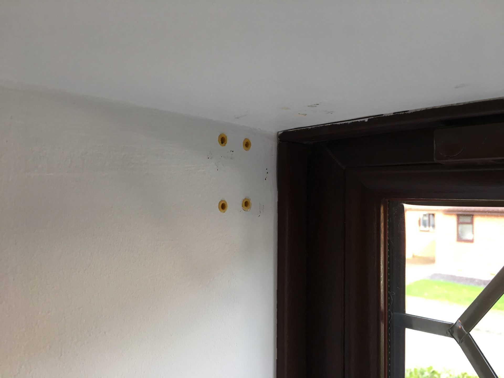 Fitting the Blinds to Go rawl plugs