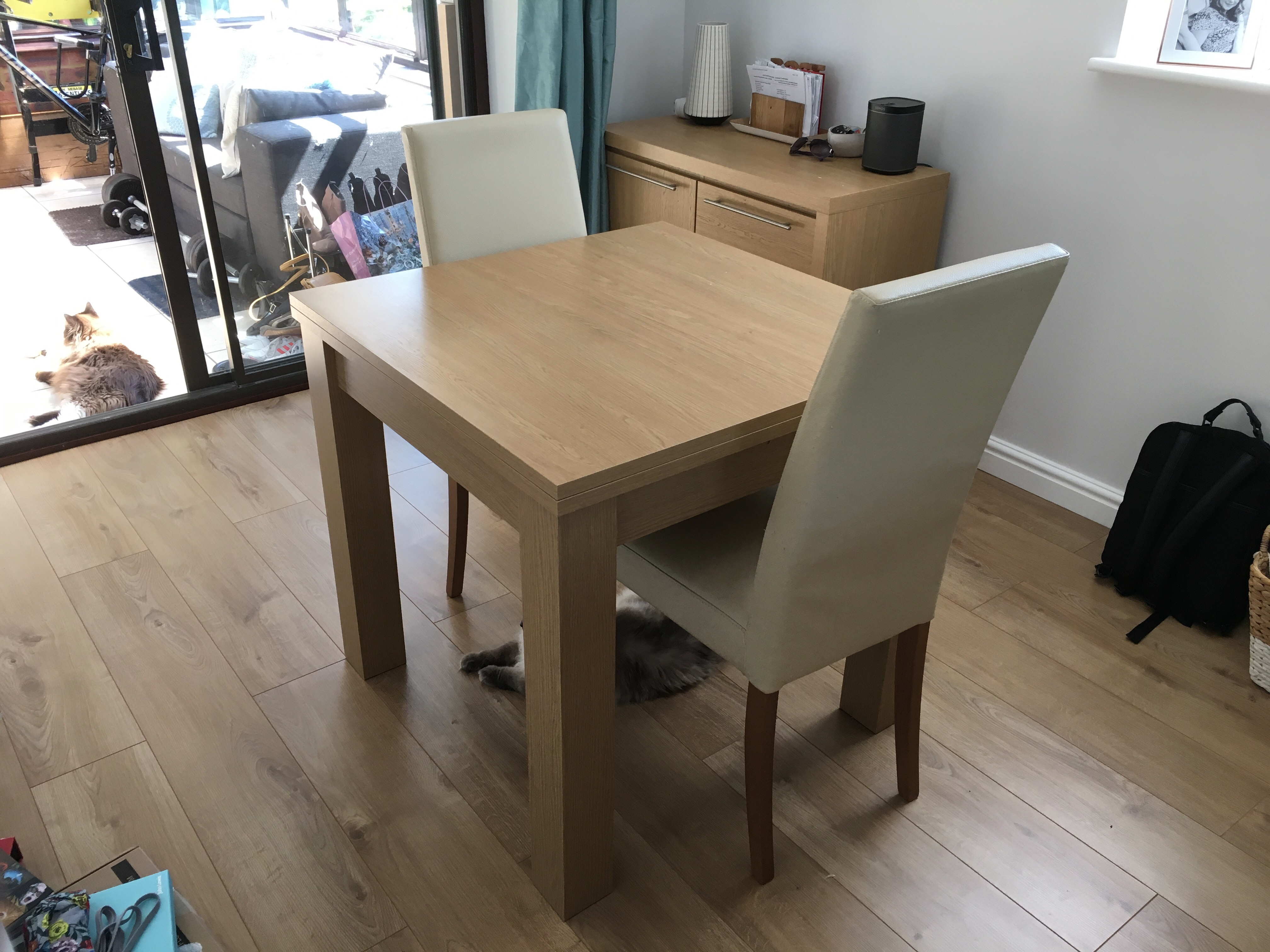 After A Little Shopping Around We Decided To Buy New Dining Table And 4 Chairs From John Lewis Alba Range In The Soft Grey Oak Combination Headed