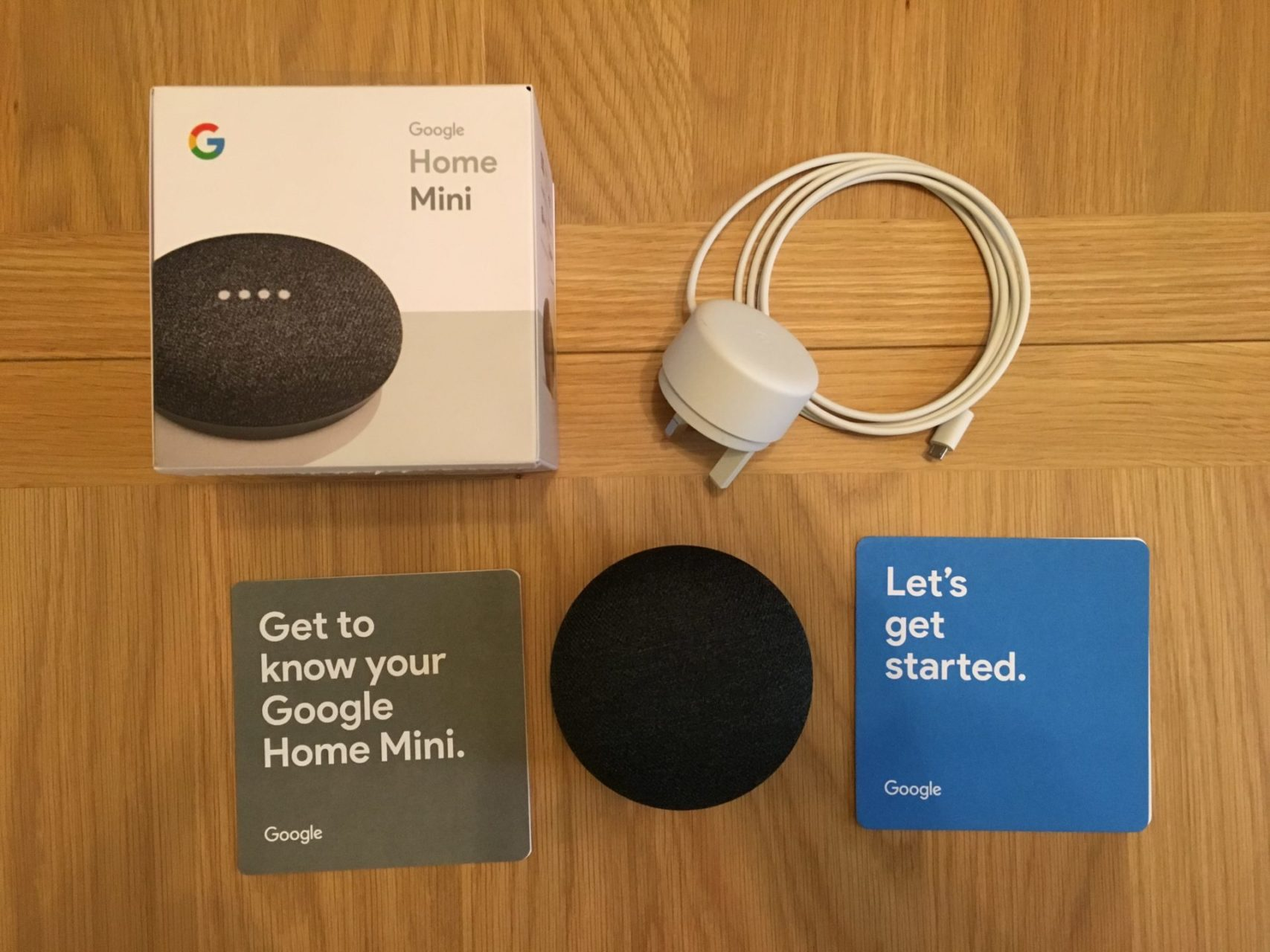Google Home Mini Box Contents