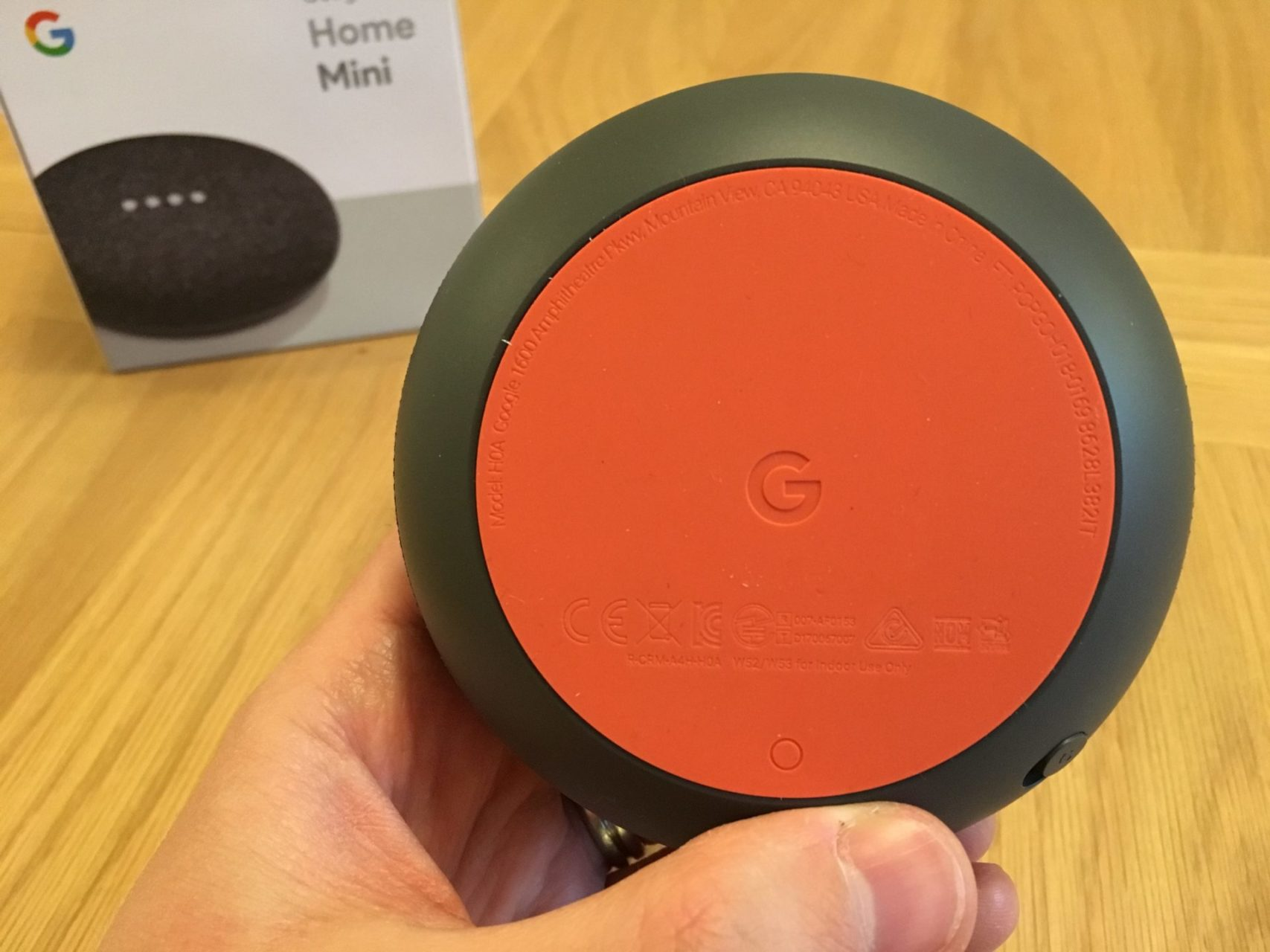 Google Home Mini Bottom