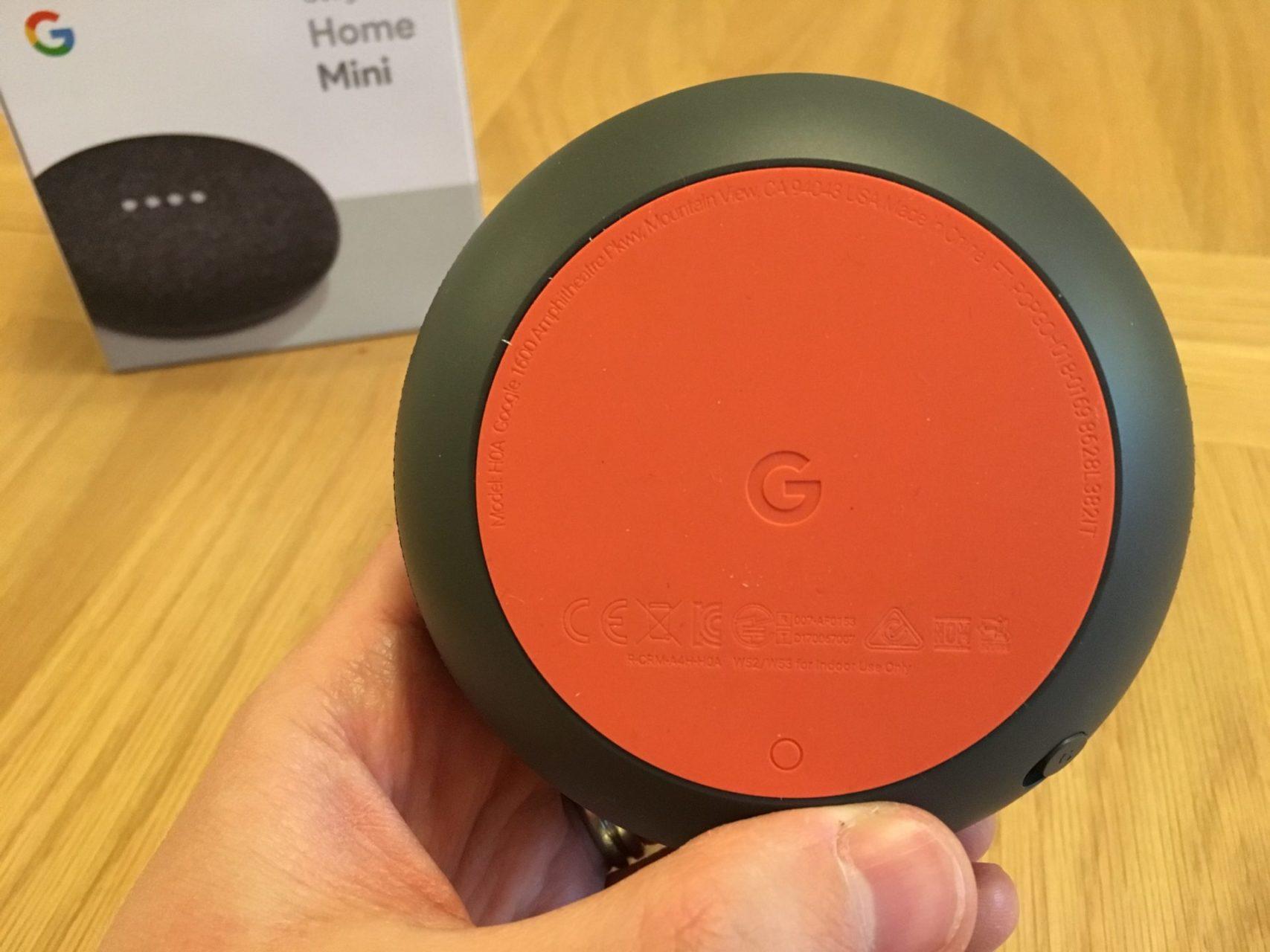 Google Home Mini Bottom