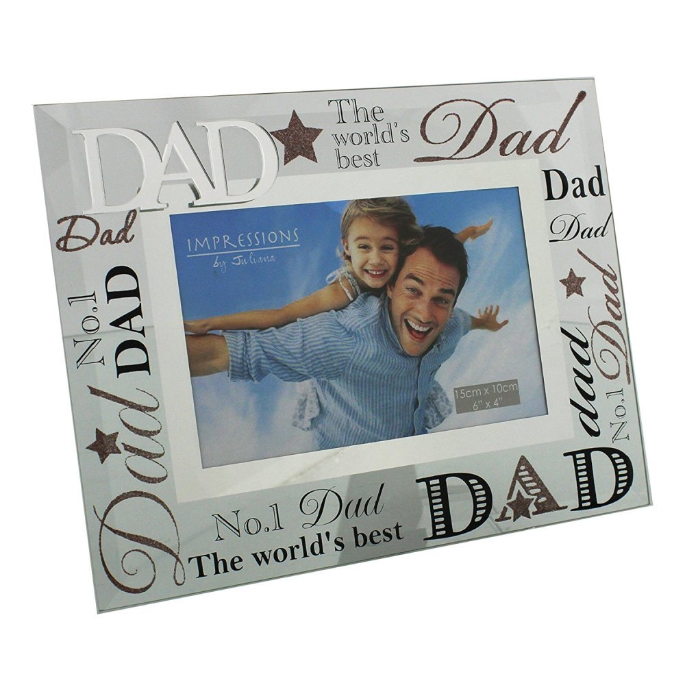 Mirrored Father's Day Photo Frame