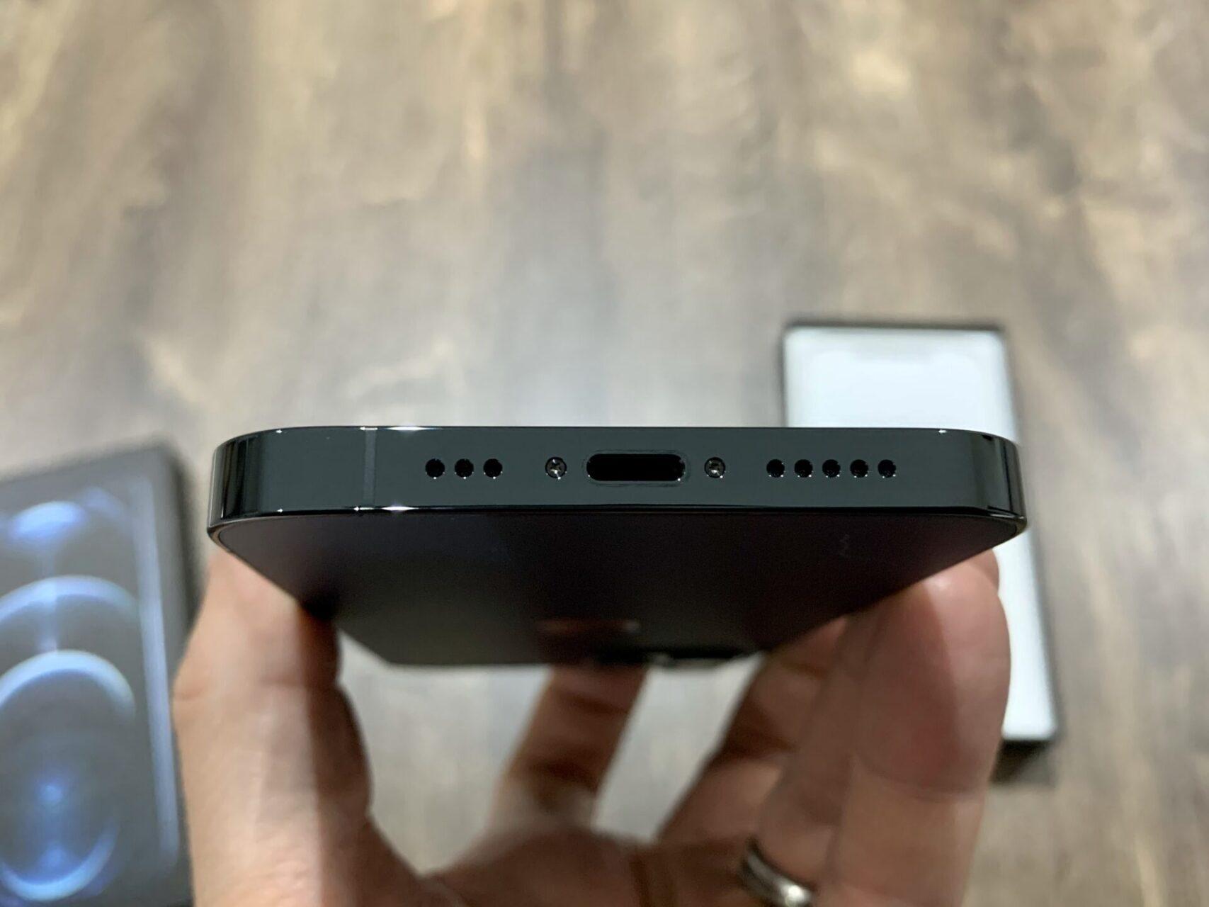 iPhone 12 Pro bottom ports